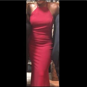 Red Strappy Back Prom Dress